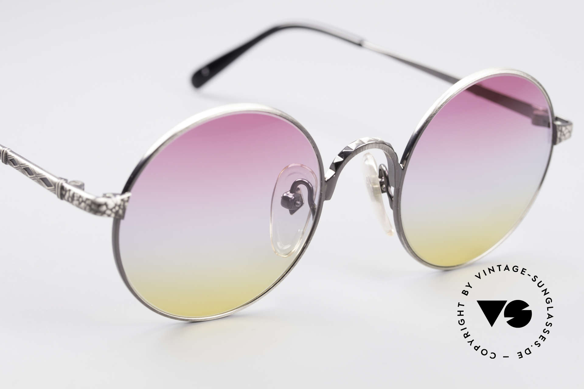 Jean Paul Gaultier 55-9671 Round Designer Sunglasses, NO RETRO shades, but an old 90s JPG Original, Made for Men and Women