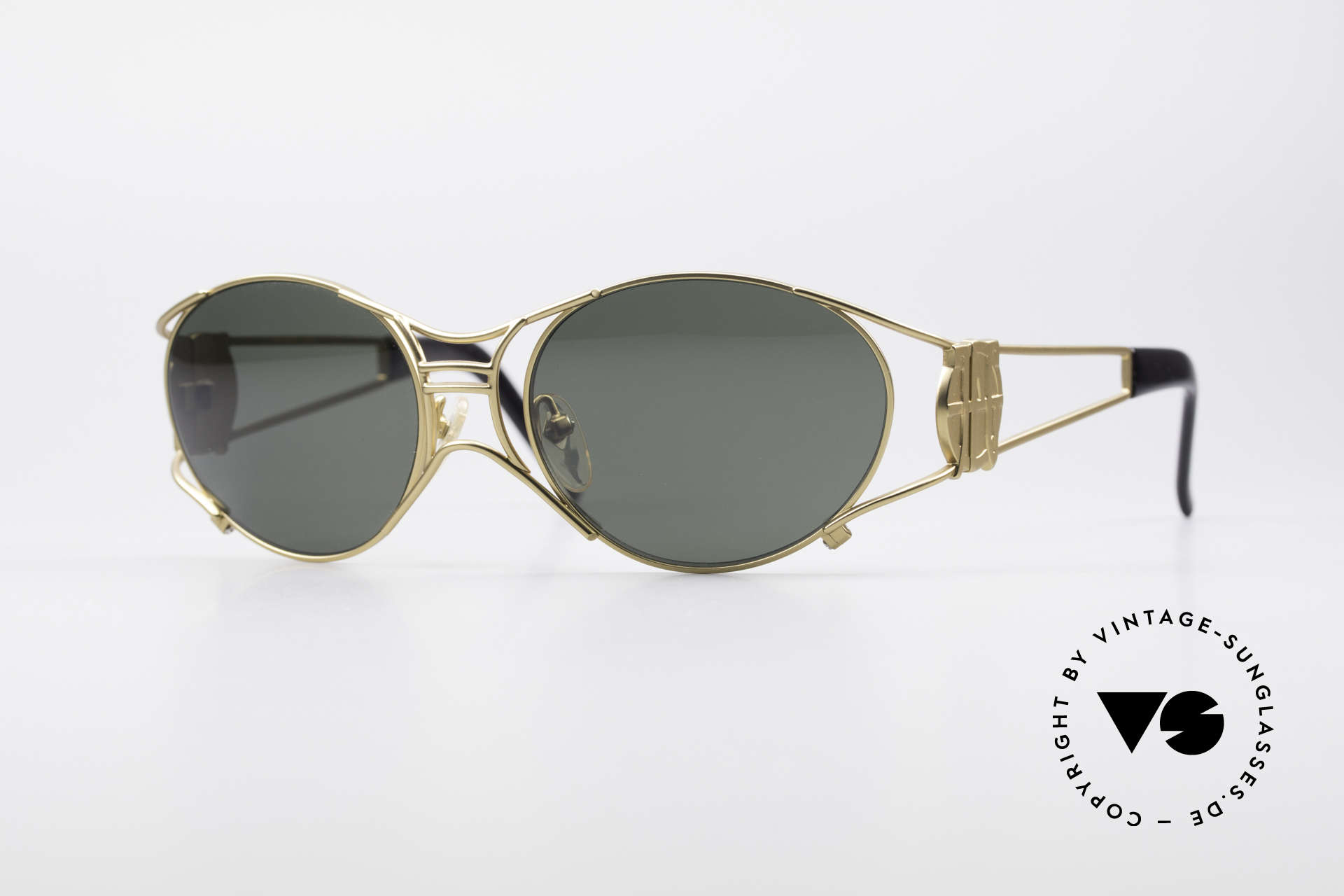 Jean Paul Gaultier 58-6101 90's Steampunk Sunglasses, rare 90's designer sunglasses by Jean Paul GAULTIER, Made for Men and Women