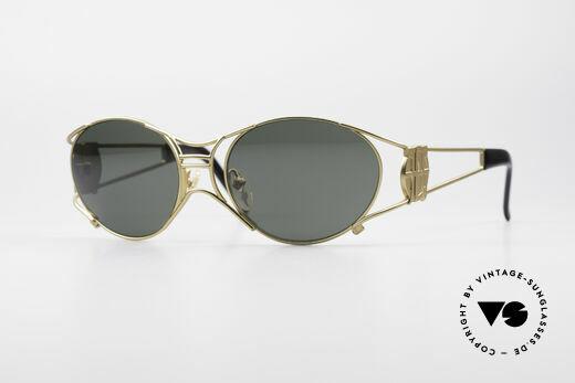 Jean Paul Gaultier 58-6101 90's Steampunk Sunglasses Details