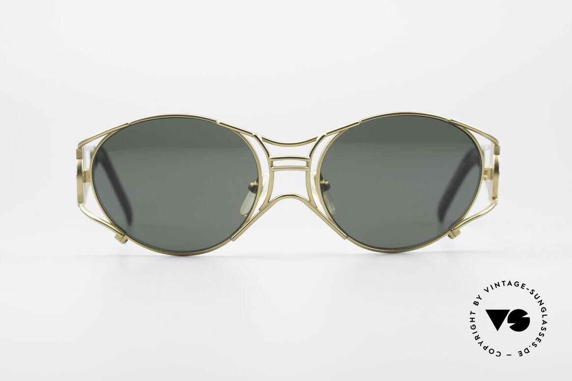 Jean Paul Gaultier 58-6101 90's Steampunk Sunglasses, mechanical / industrial frame construction from '97, Made for Men and Women