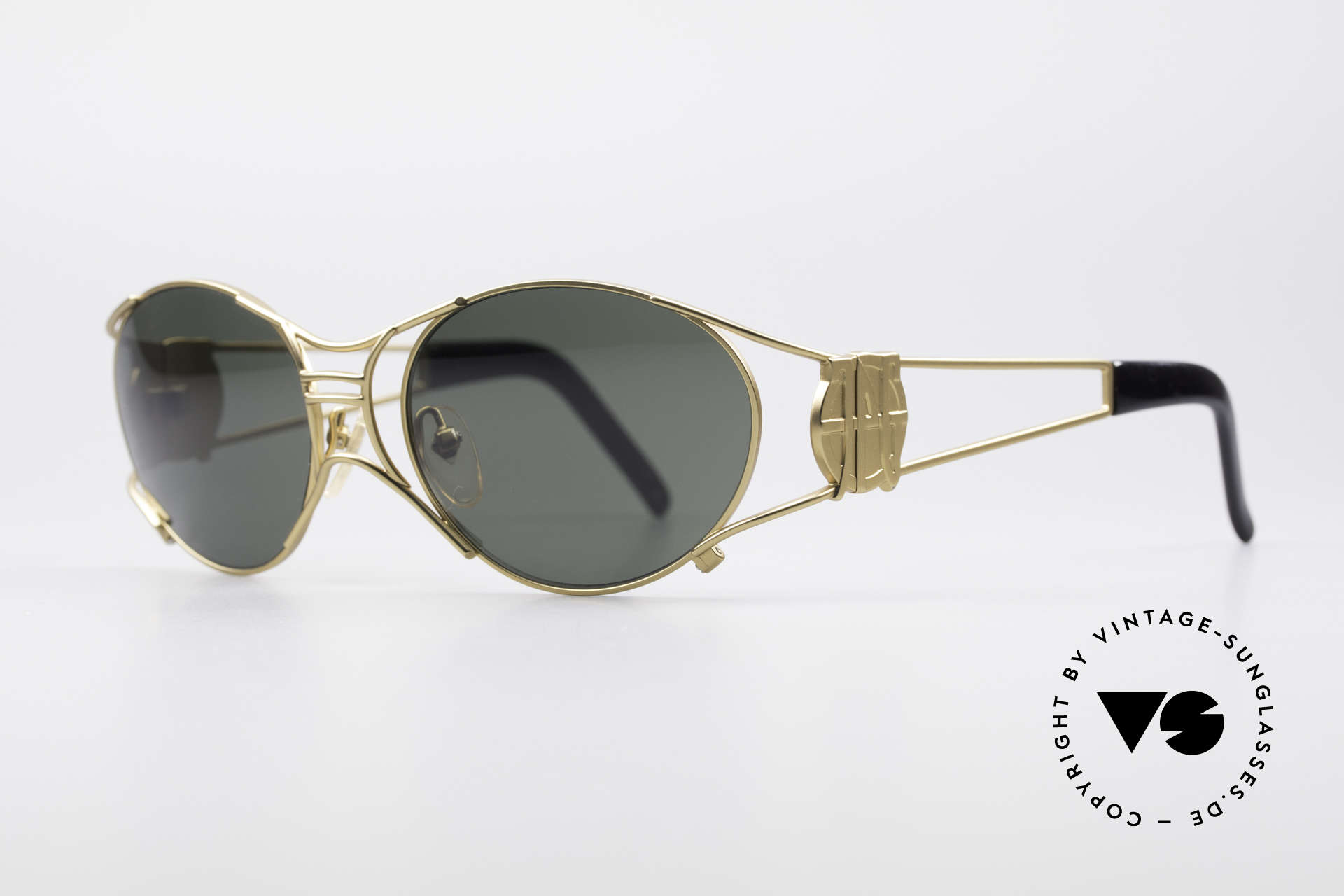 "Jean Paul Gaultier 58-6101 90's Steampunk Sunglasses, often called as ""steampunk sunglasses"" in these days, Made for Men and Women"