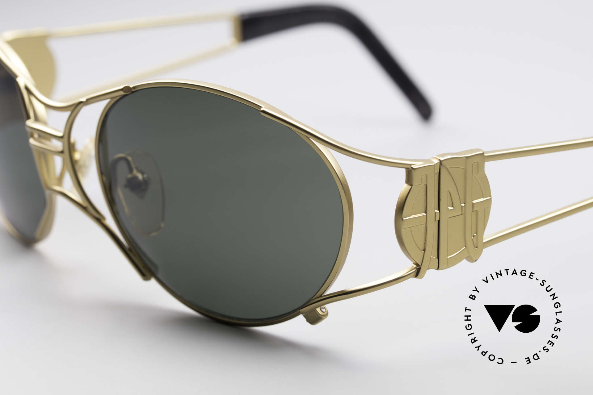 Jean Paul Gaultier 58-6101 90's Steampunk Sunglasses, top-notch craftsmanship, made in JAPAN (100% UV), Made for Men and Women