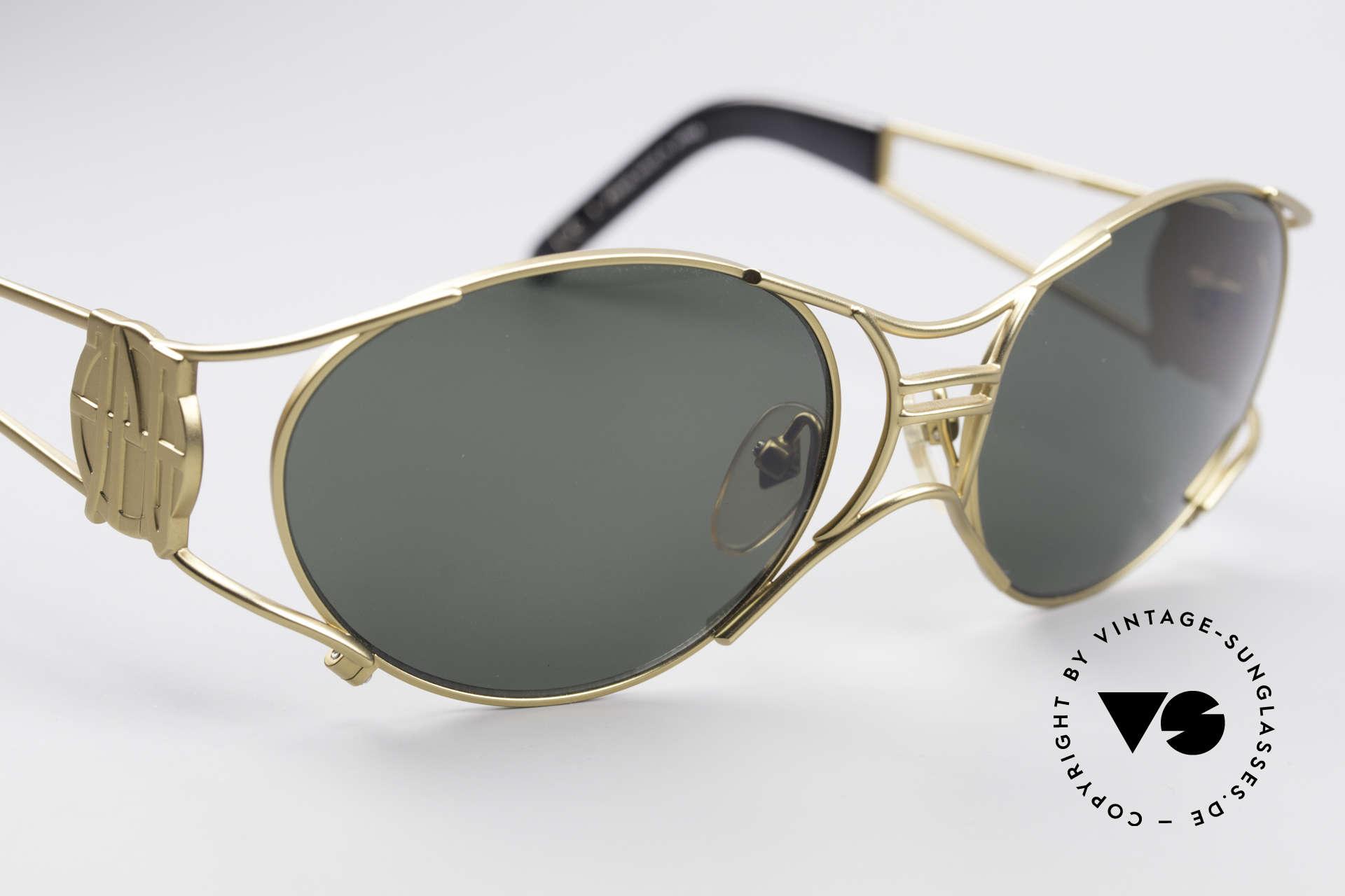 Jean Paul Gaultier 58-6101 90's Steampunk Sunglasses, unworn original (collector's item & true eye-catcher), Made for Men and Women