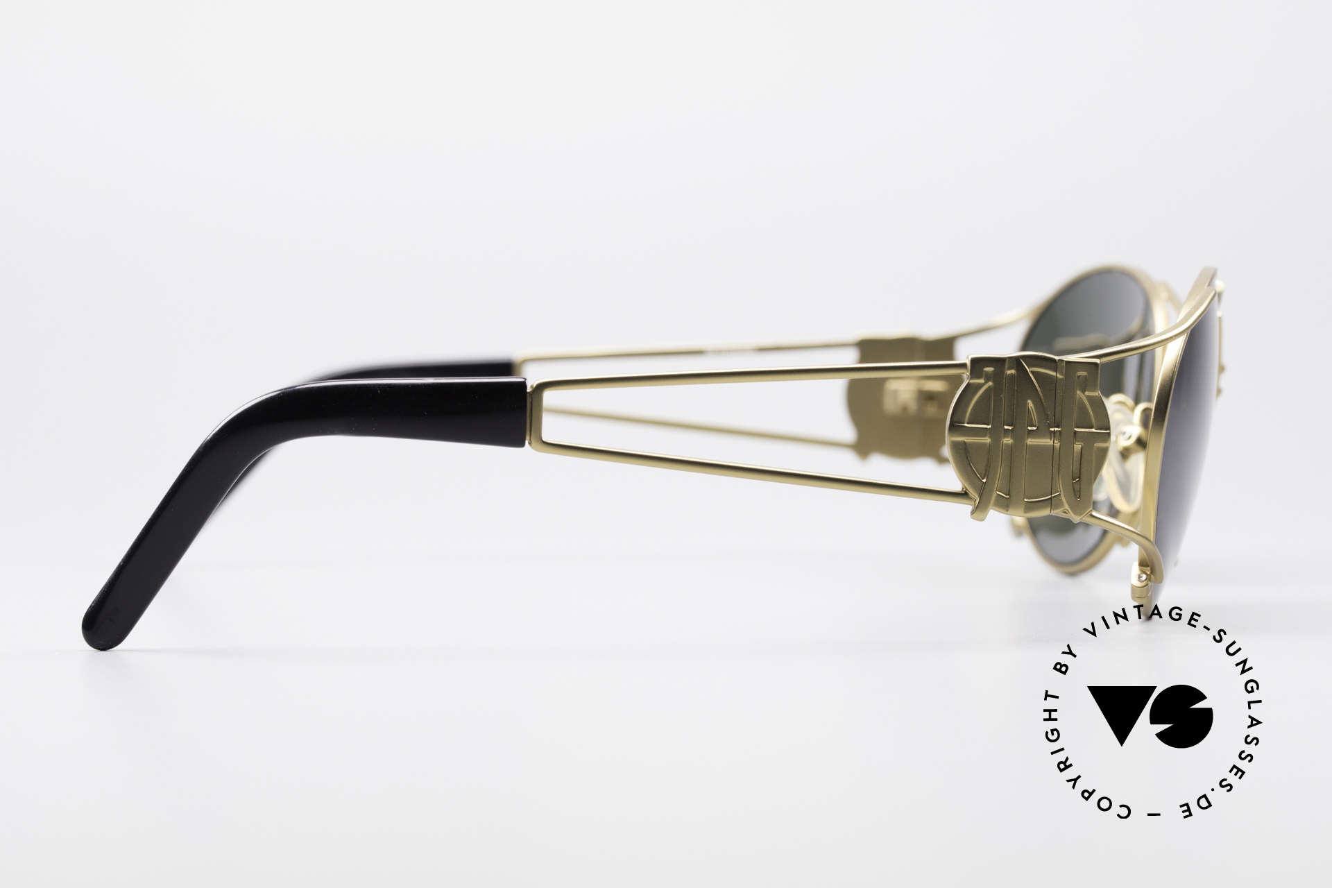 Jean Paul Gaultier 58-6101 90's Steampunk Sunglasses, NO RETRO SHADES, but a 20 years old designer piece, Made for Men and Women