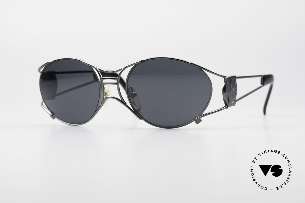 Jean Paul Gaultier 58-6101 Steampunk 90's Sunglasses, rare 90's designer sunglasses by Jean Paul GAULTIER, Made for Men and Women