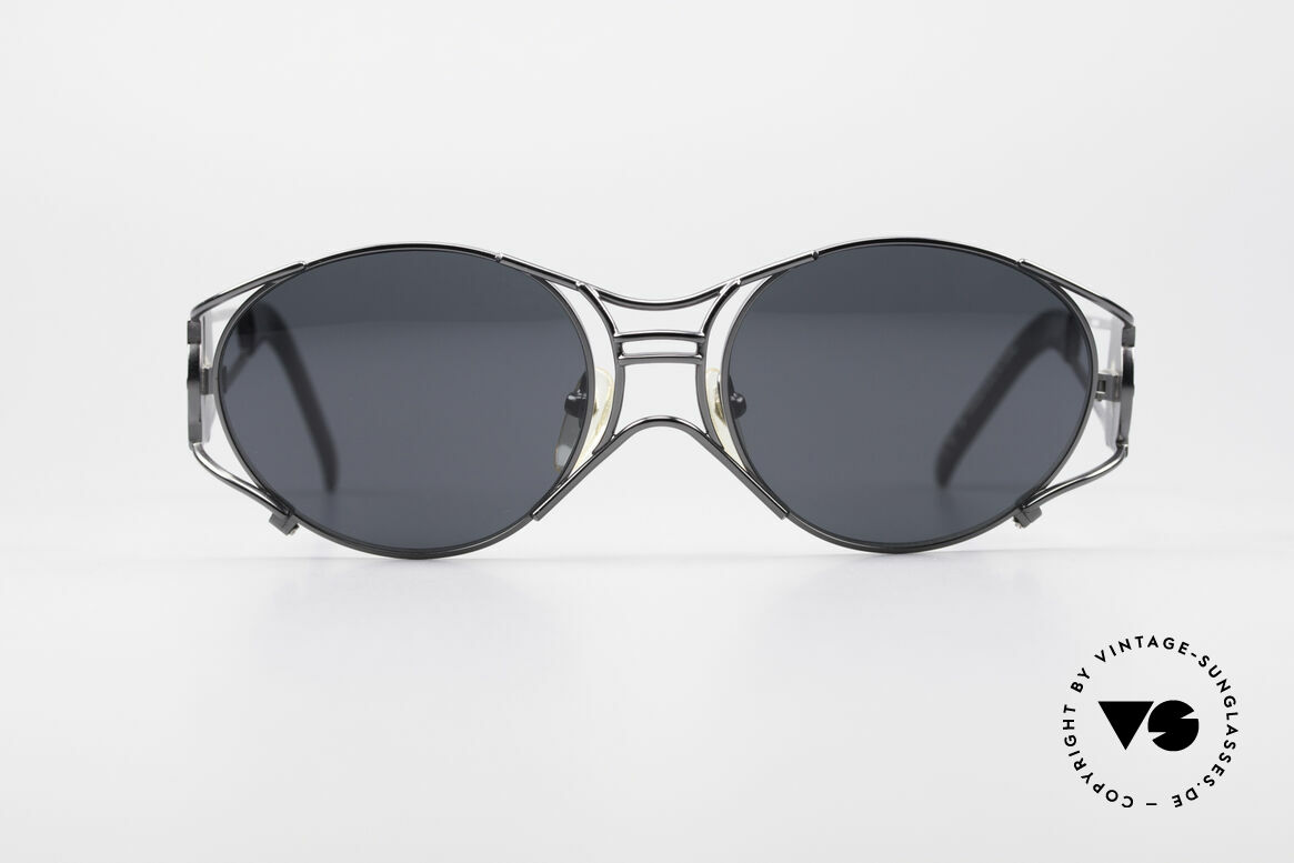 Jean Paul Gaultier 58-6101 Steampunk 90's Sunglasses, mechanical / industrial frame construction from '97, Made for Men and Women