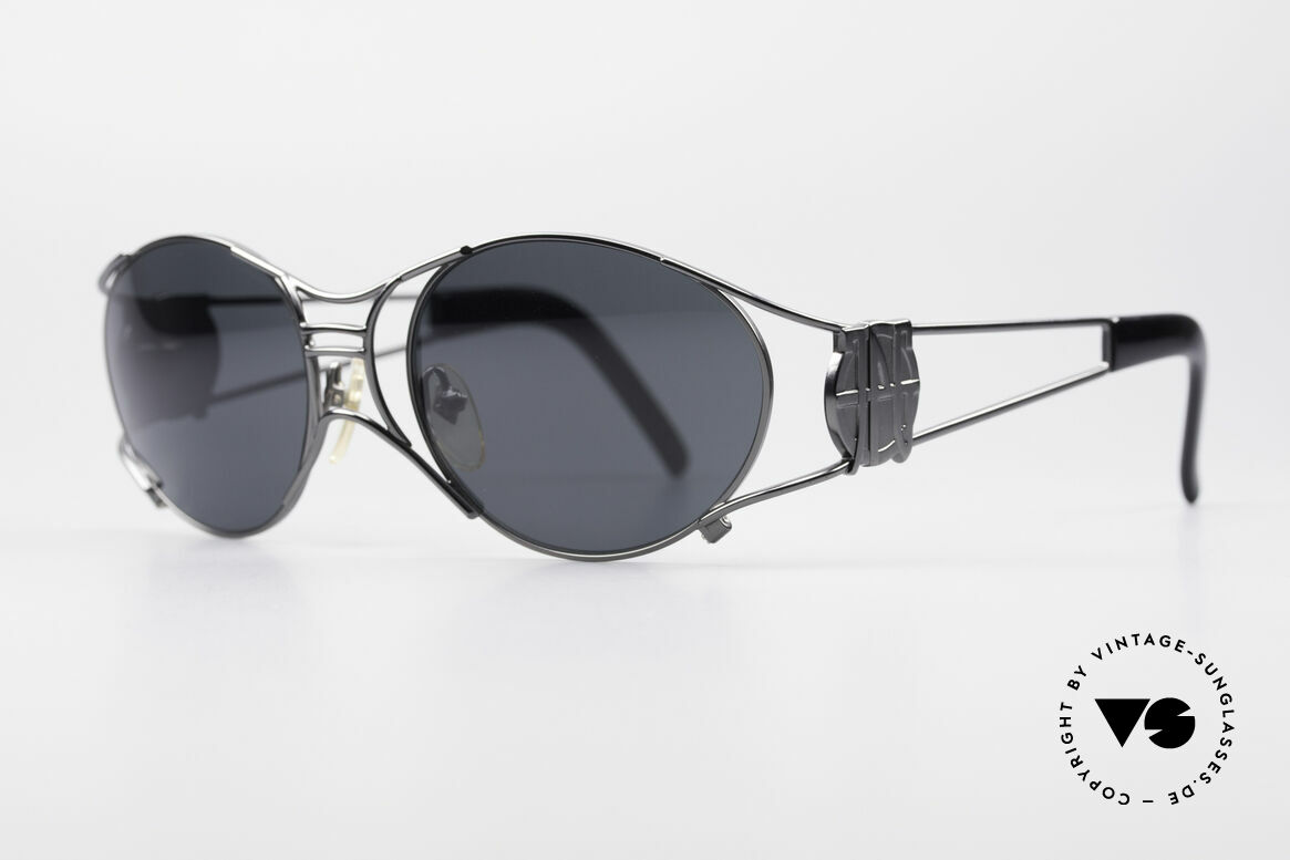 """Jean Paul Gaultier 58-6101 Steampunk 90's Sunglasses, often called as """"steampunk sunglasses"""" in these days, Made for Men and Women"""
