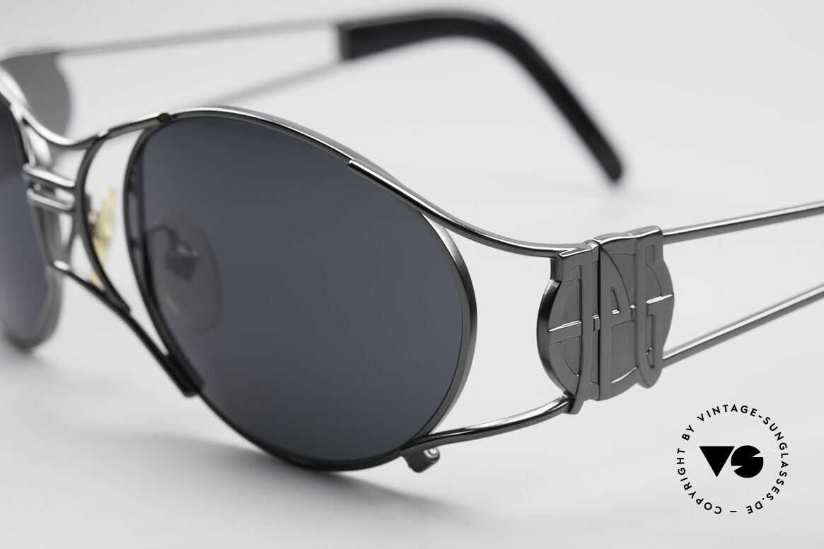 Jean Paul Gaultier 58-6101 Steampunk 90's Sunglasses, top-notch craftsmanship, made in JAPAN (100% UV), Made for Men and Women