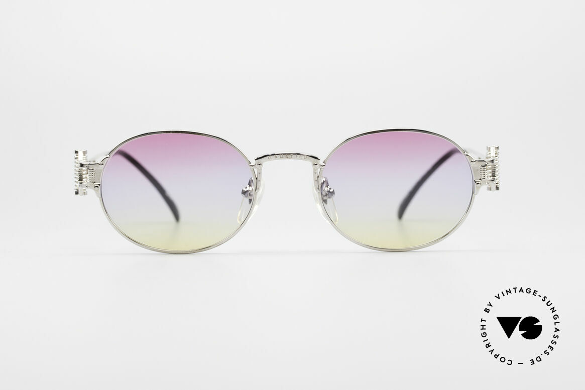 Jean Paul Gaultier 55-5110 Extraordinary Vintage Shades, spectacular frame design with tricolored lenses, Made for Men and Women
