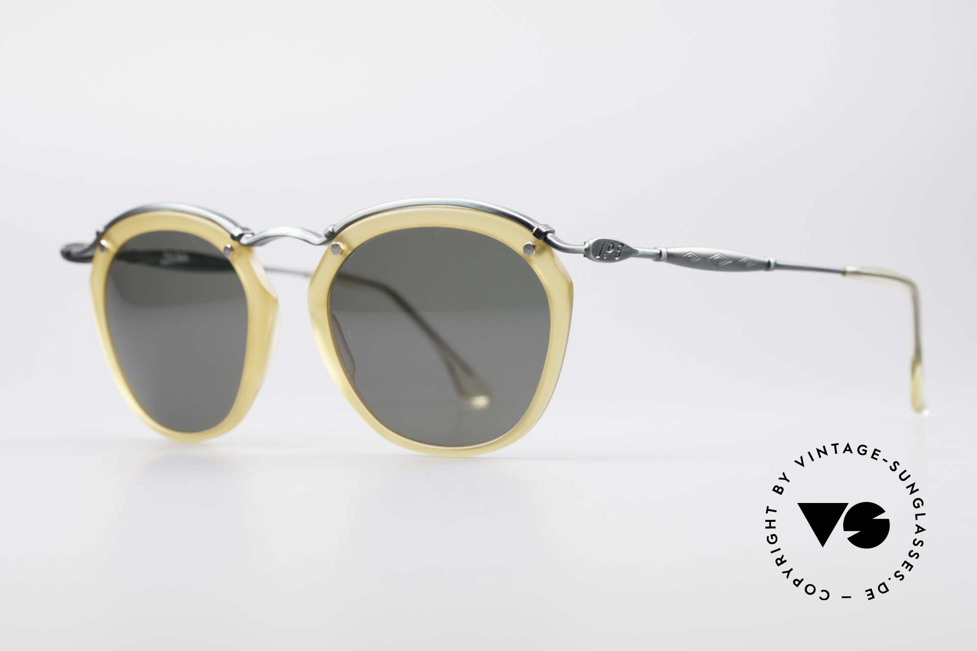 Jean Paul Gaultier 56-1273 Panto Style Sunglasses, interesting combination of materials and colors, Made for Men and Women