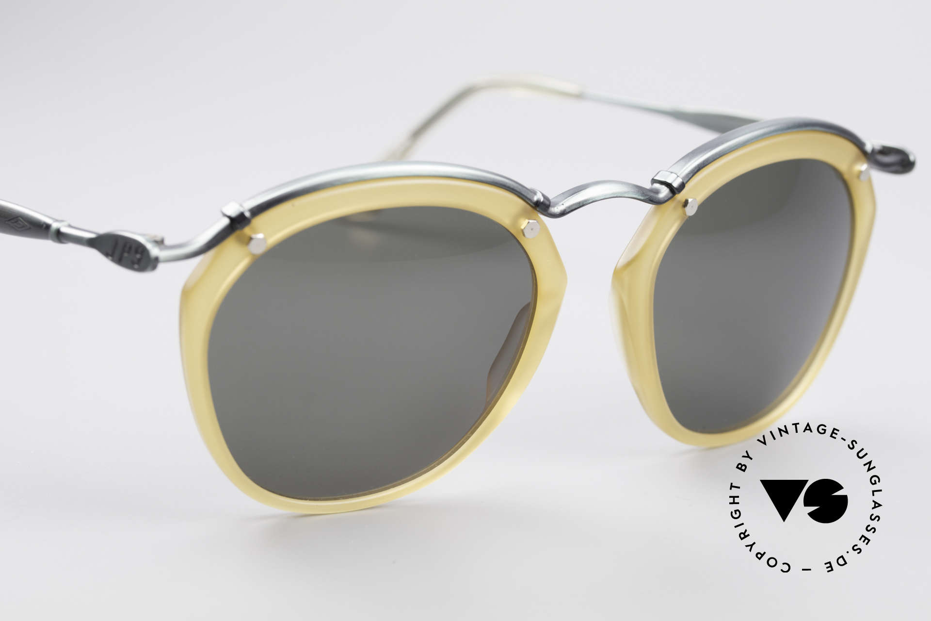 Jean Paul Gaultier 56-1273 Panto Style Sunglasses, never worn (like all our unique vintage glasses), Made for Men and Women