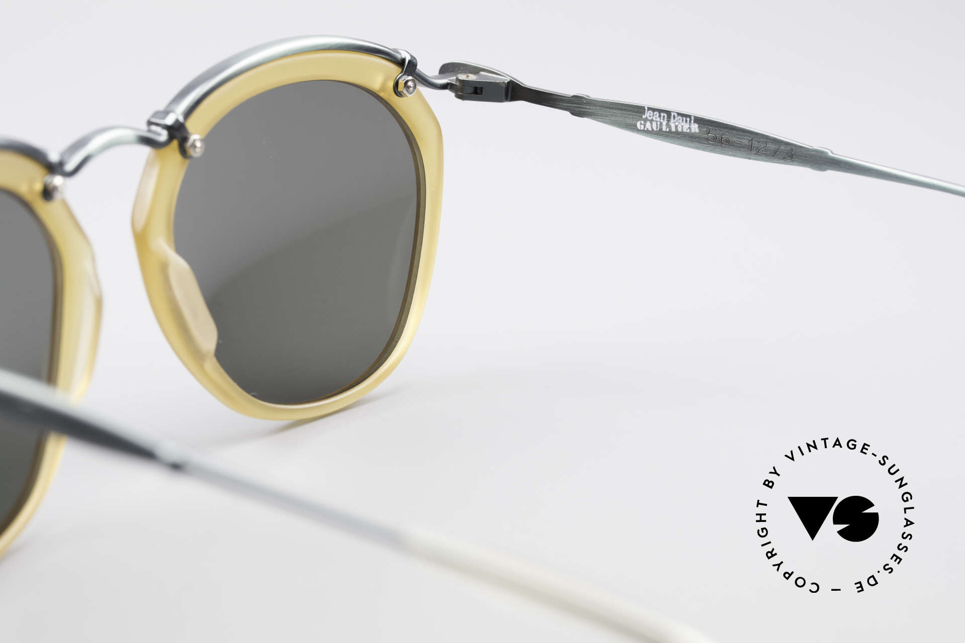 Jean Paul Gaultier 56-1273 Panto Style Sunglasses, NO RETRO shades, but a 20 years old ORIGINAL, Made for Men and Women