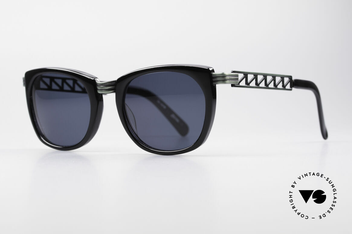 """Jean Paul Gaultier 56-0272 Steampunk 90's Sunglasses, """"rusty green"""" finish and dark blue sun lenses, Made for Men and Women"""