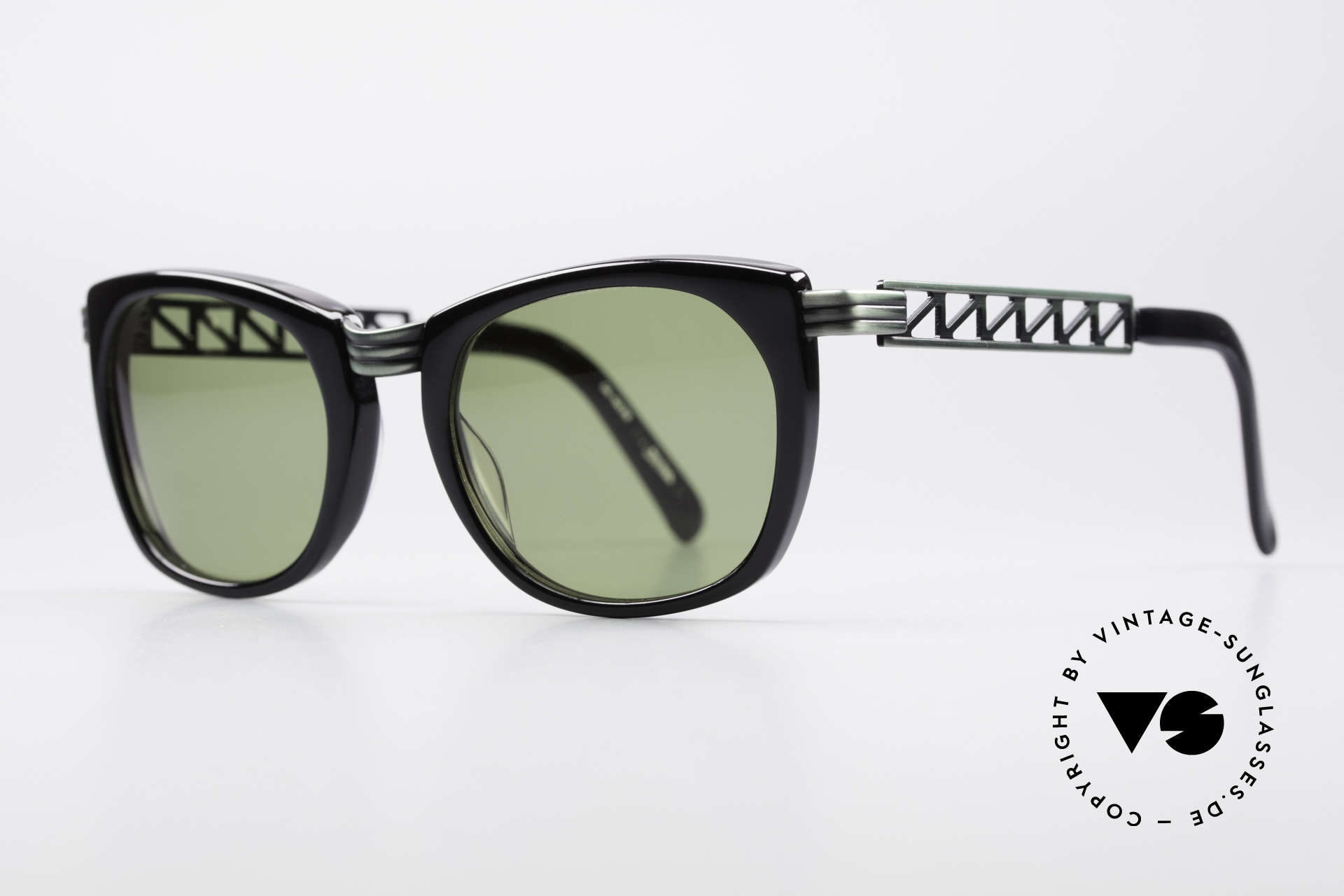 "Jean Paul Gaultier 56-0272 90's Steampunk Sunglasses, ""rusty green"" finish & with green sun lenses, Made for Men and Women"