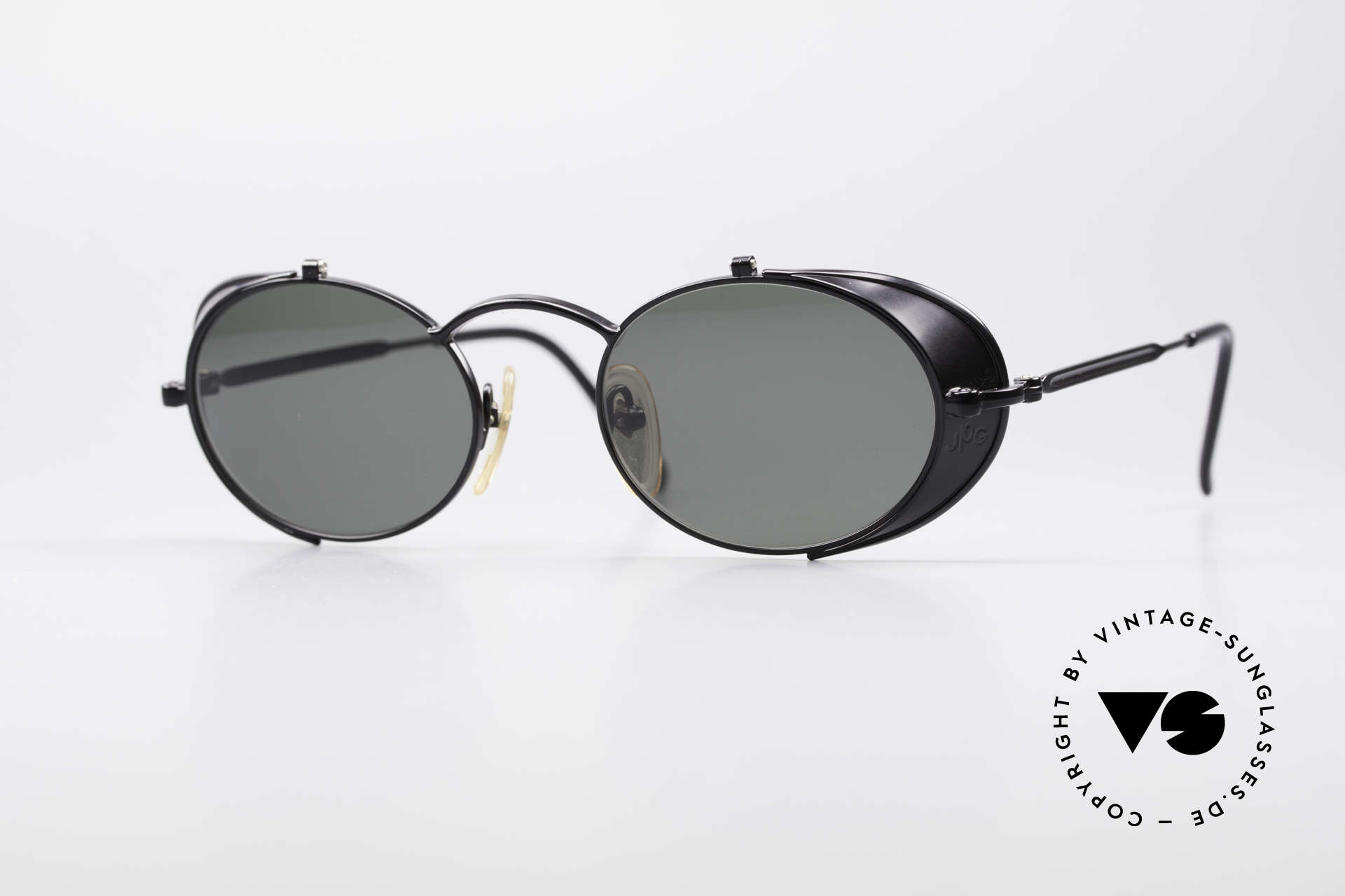 Jean Paul Gaultier 56-1175 JPG Side Shields Sunglasses, vintage Gaultier designer sunglasses from the mid 90's, Made for Men and Women