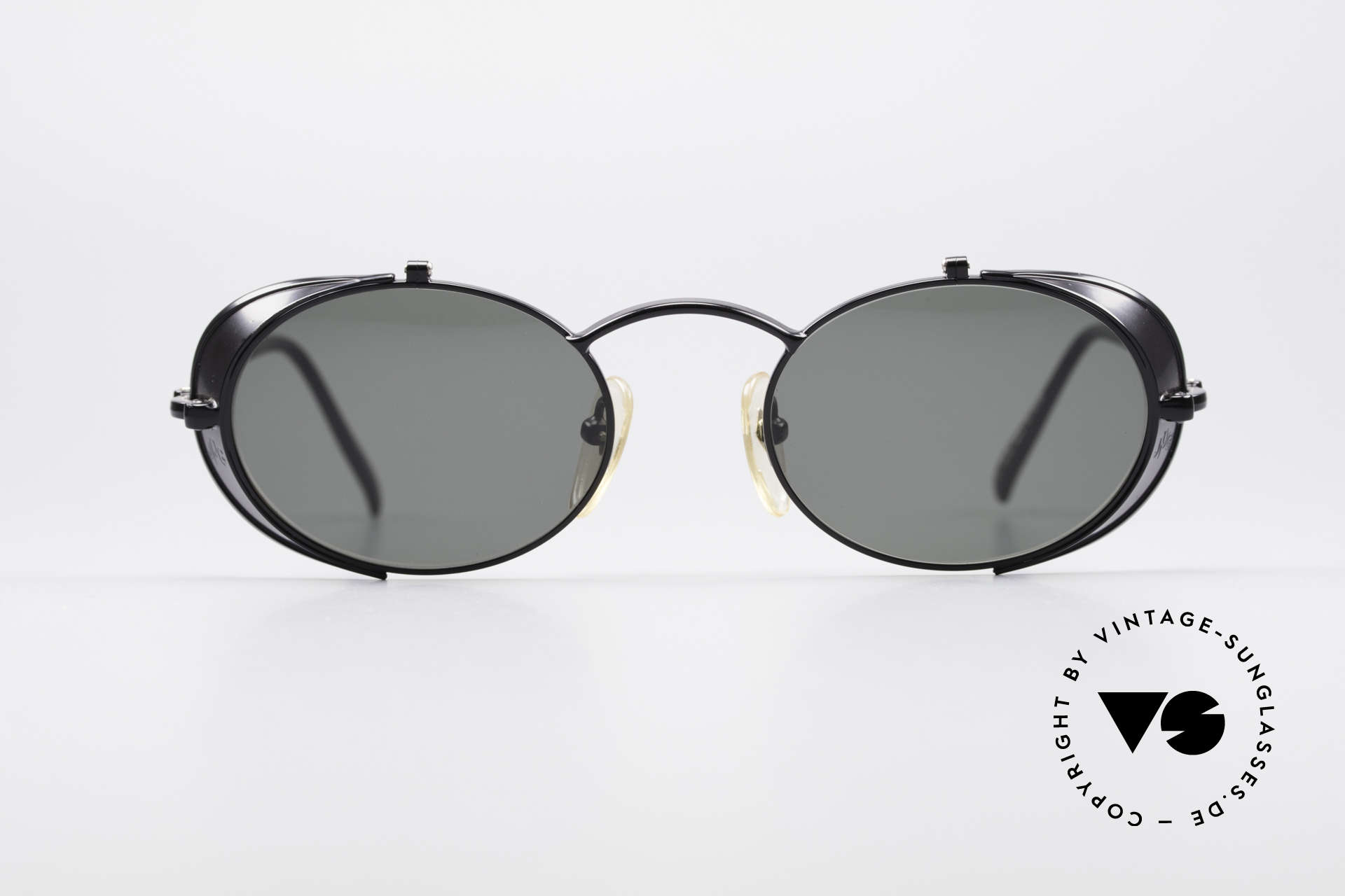 Jean Paul Gaultier 56-1175 JPG Side Shields Sunglasses, 'STEAMPUNK shades' by the eccentric French designer, Made for Men and Women