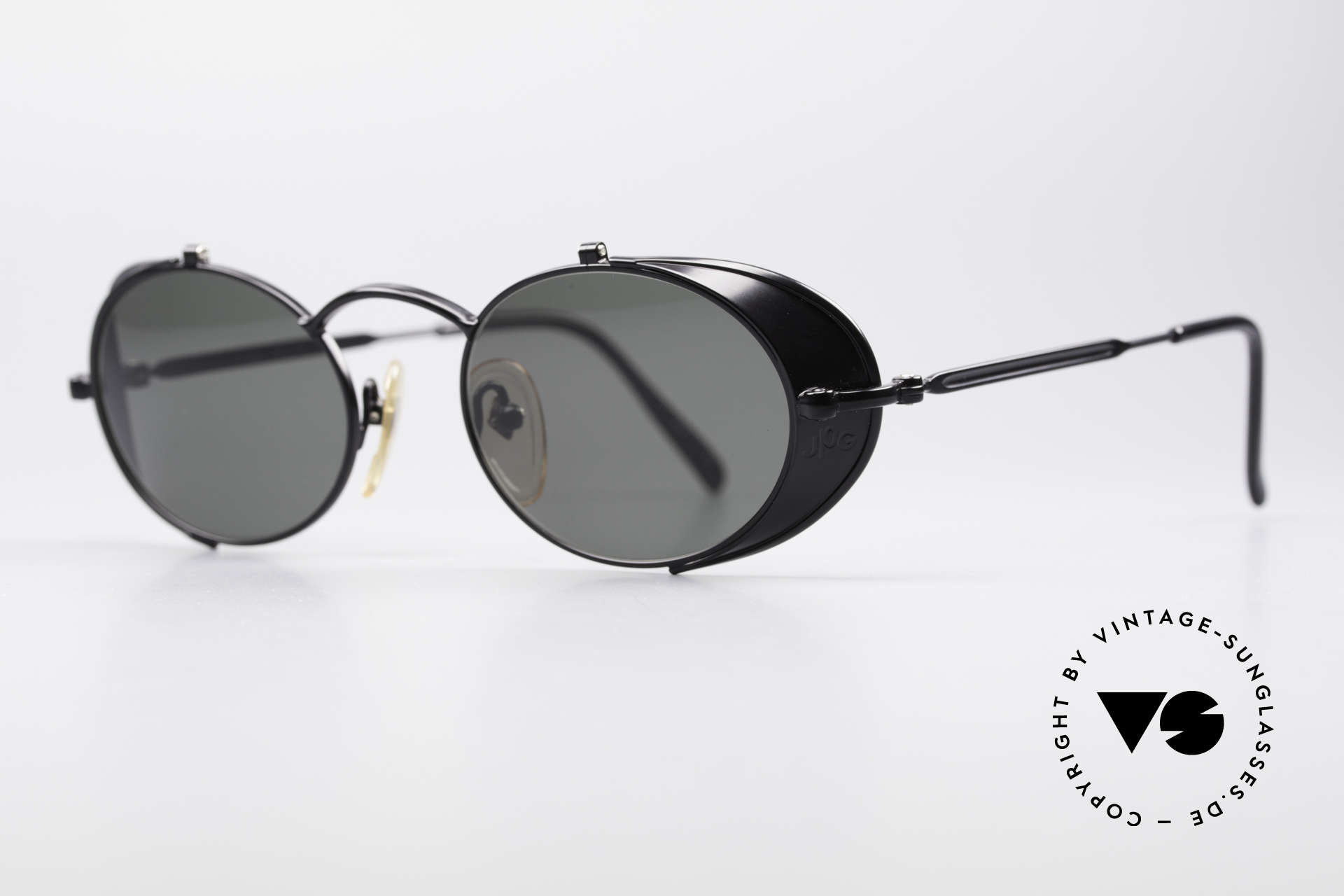 "Jean Paul Gaultier 56-1175 JPG Side Shields Sunglasses, many very interesting ""retro-futuristic"" frame elements, Made for Men and Women"