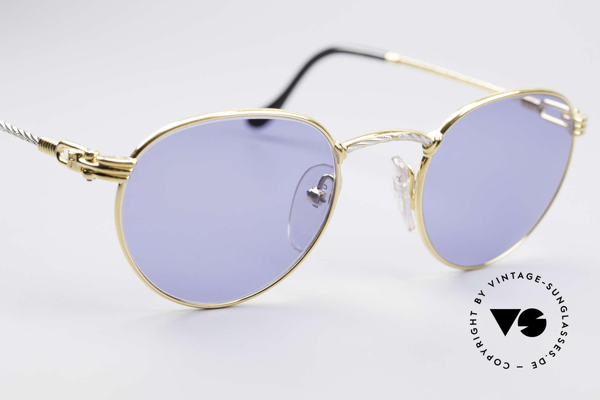 Fred Ouragan Luxury Panto Sunglasses, precious bicolor edition: size 48°21 + orig. box & case, Made for Men