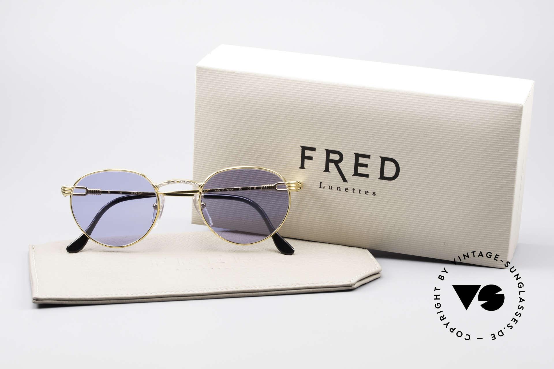 Fred Ouragan Luxury Panto Sunglasses, unworn vintage ORIGINAL & NO RETRO SUNGLASSES, Made for Men
