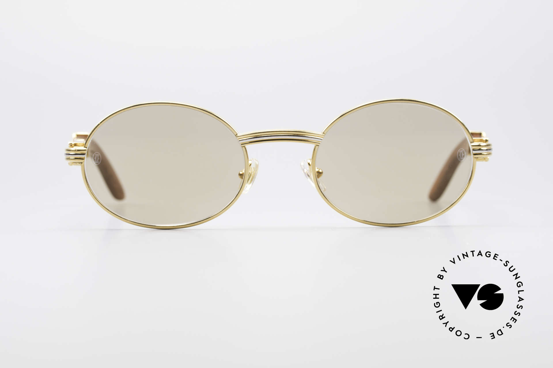 f249cf8355c5 Sunglasses Cartier Giverny Oval Wood Sunglasses