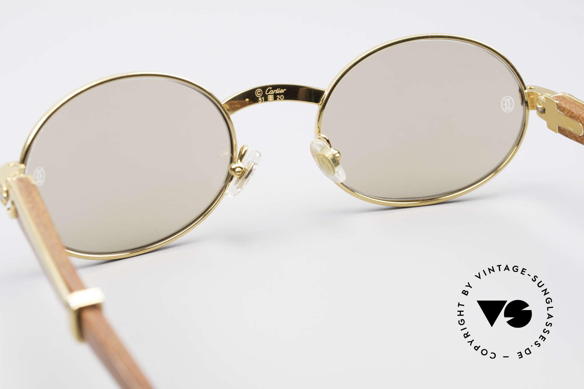3c389315b380 Sunglasses Cartier Giverny Oval Wood Sunglasses