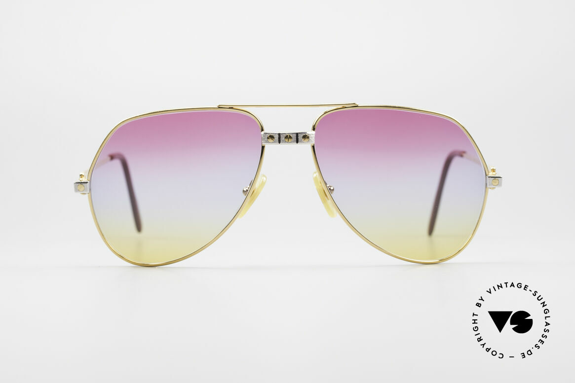 "Cartier Vendome Santos - M Rare 80's Aviator Shades, mod. ""Vendome"" was launched in 1983 & made till 1997, Made for Men and Women"