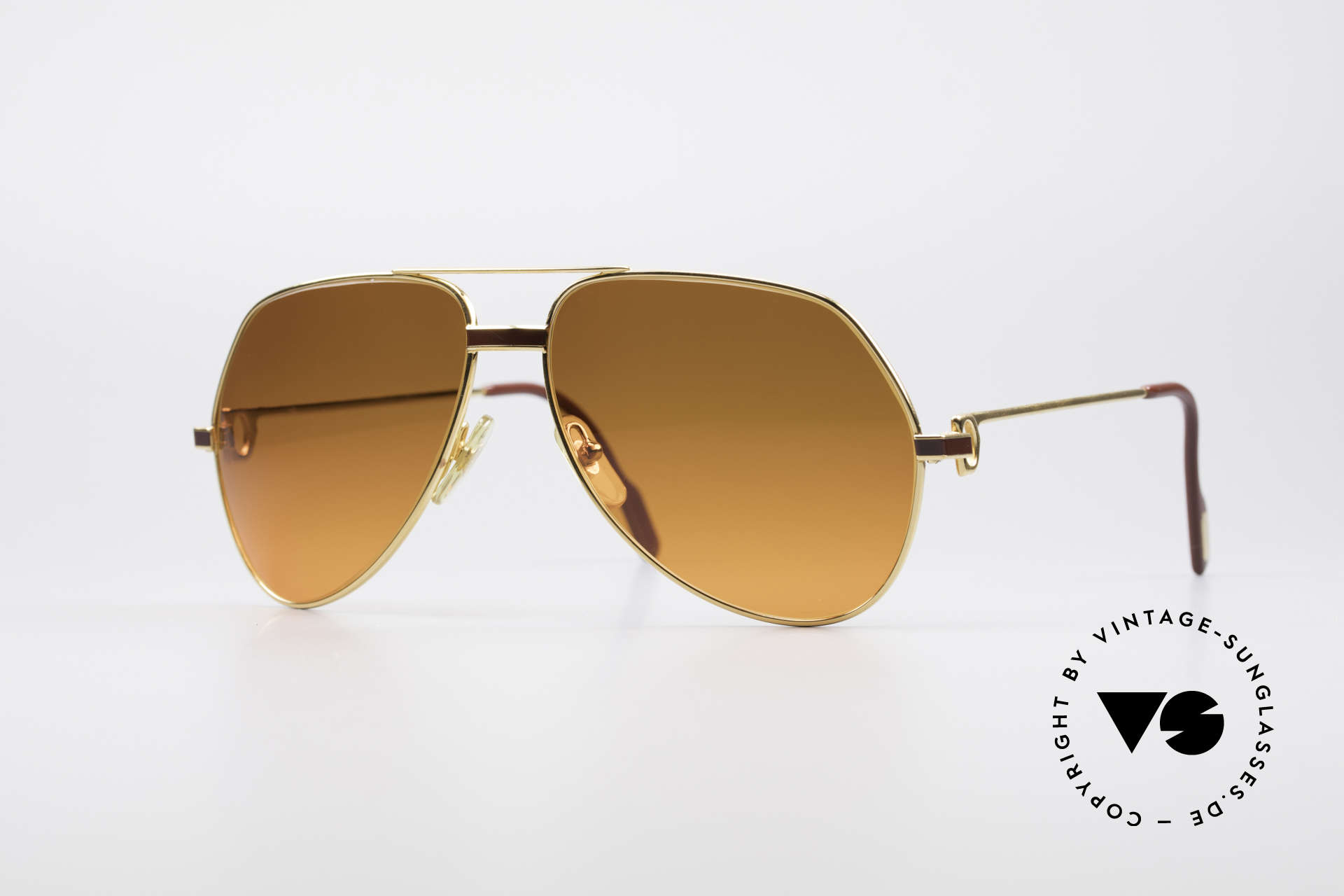 Cartier Vendome Laque - L Luxury 80's Aviator Sunglasses, Vendome = the most famous eyewear design by CARTIER, Made for Men and Women