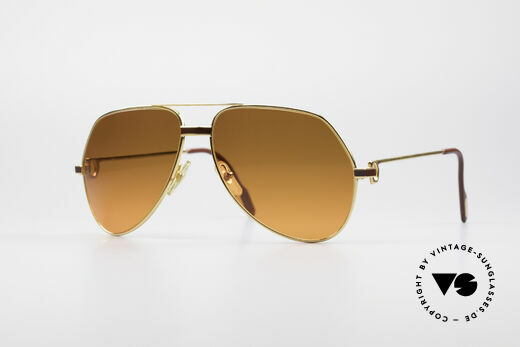 Cartier Vendome Laque - L Luxury 80's Aviator Sunglasses Details