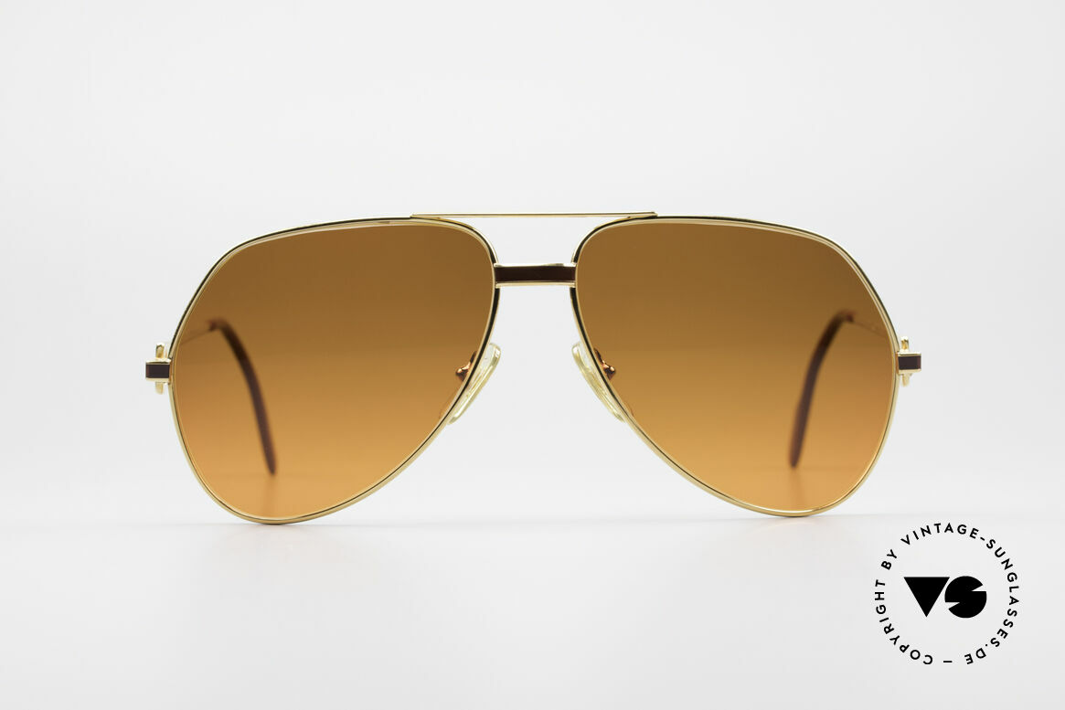 "Cartier Vendome Laque - L Luxury 80's Aviator Sunglasses, mod. ""Vendome"" was launched in 1983 & made till 1997, Made for Men and Women"