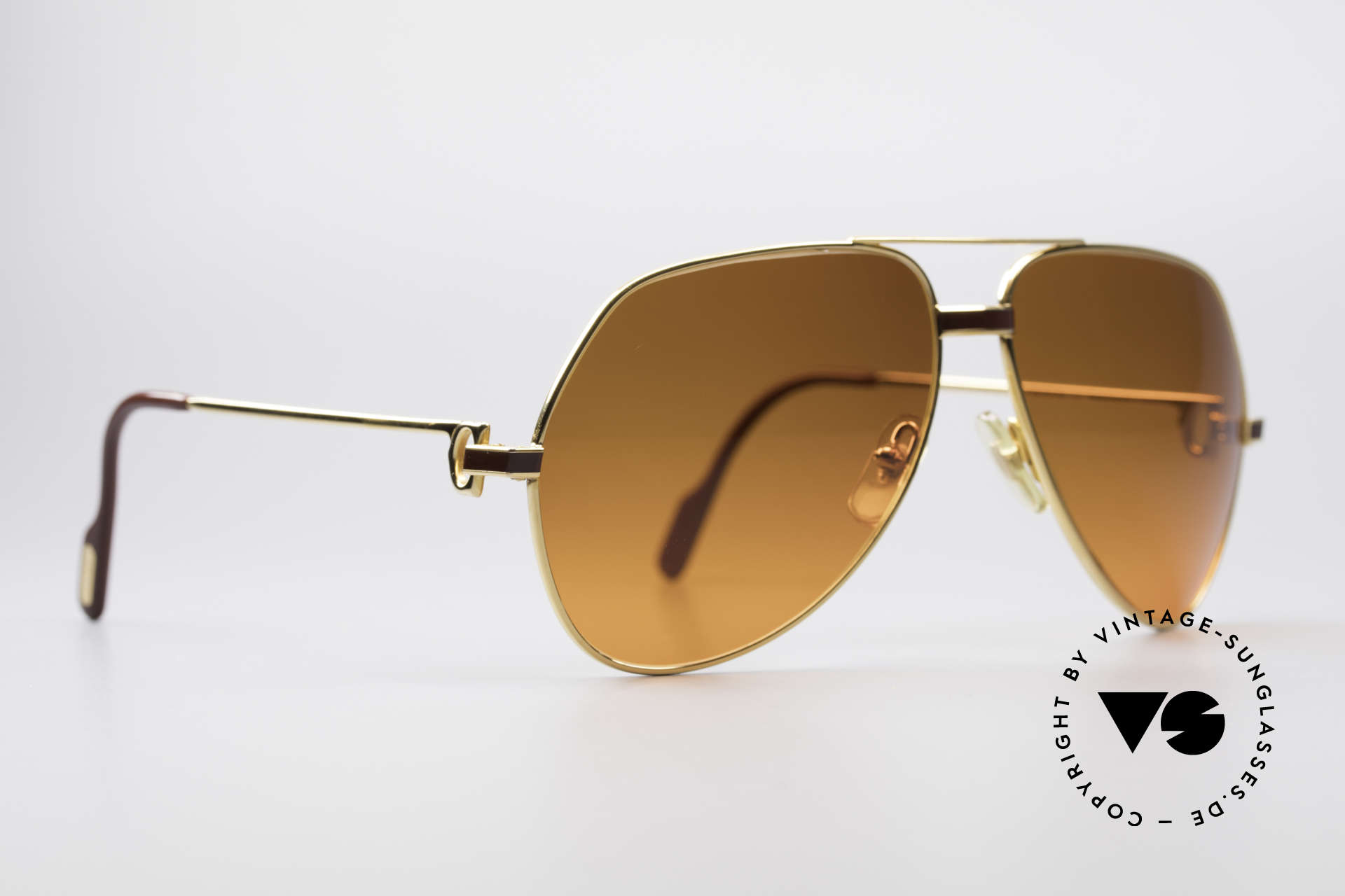Cartier Vendome Laque - L Luxury 80's Aviator Sunglasses, this pair (with LAQUE decor) in LARGE size 62-14, 140, Made for Men and Women