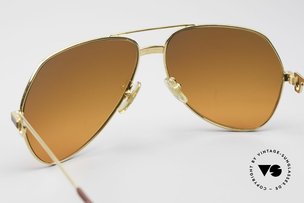 Cartier Vendome Laque - L Luxury 80's Aviator Sunglasses, with extremely RARE customized sun lenses (100% UV), Made for Men and Women