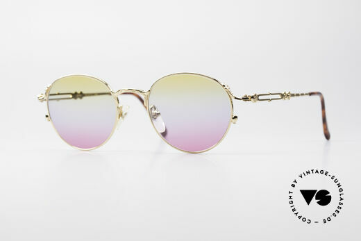 Jean Paul Gaultier 55-4177 Gold Plated Panto Sunglasses Details