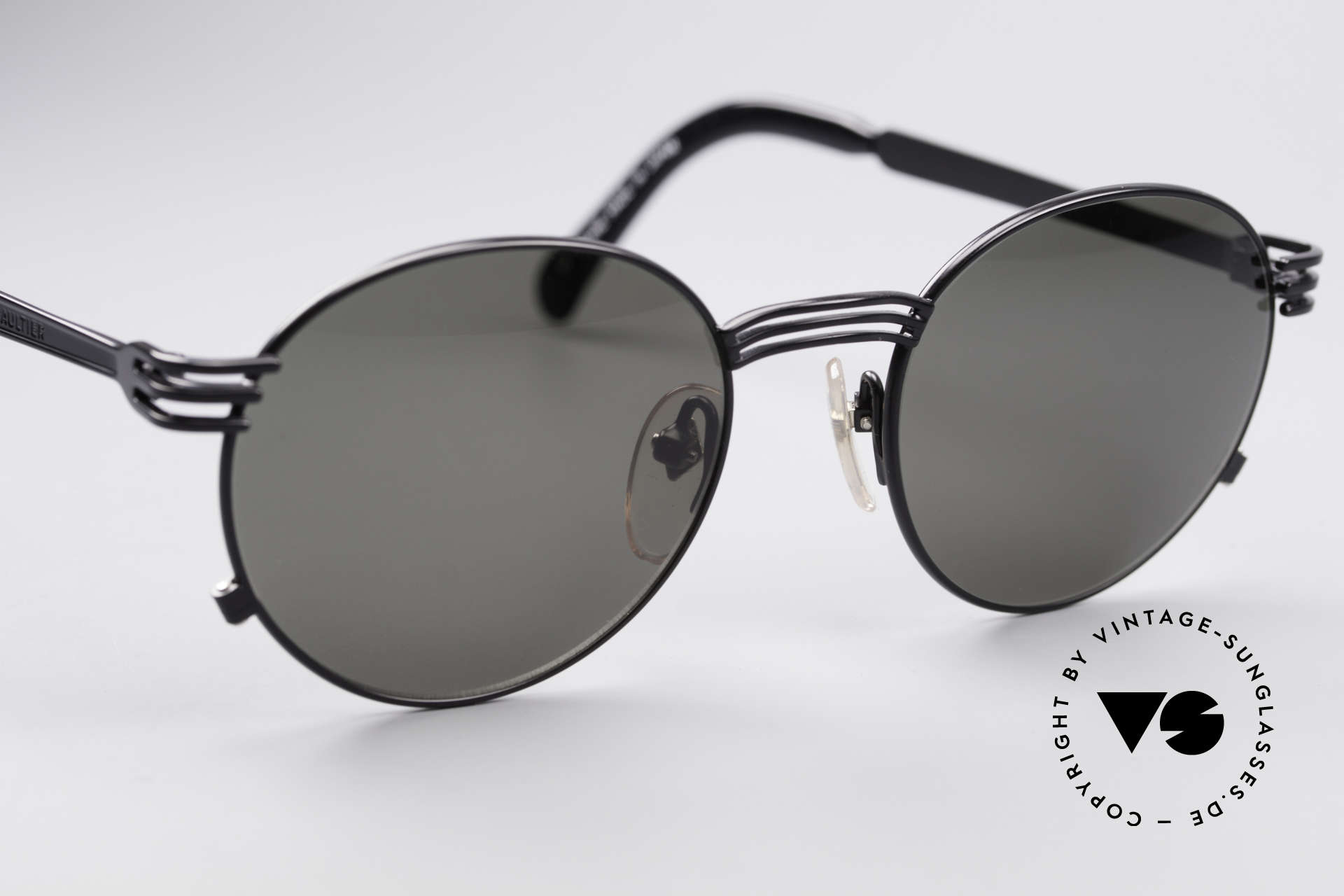 Jean Paul Gaultier 55-3174 Designer Fork Sunglasses, NO RETRO sunglasses, but a precious original from 1994, Made for Men and Women