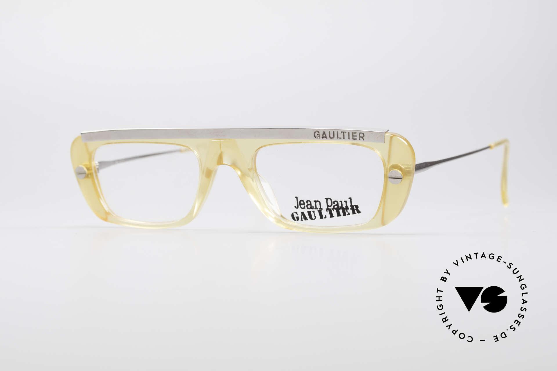 Jean Paul Gaultier 55-0771 Striking Vintage JPG Frame, striking Jean Paul GAULTIER vintage eyeglasses, Made for Men and Women