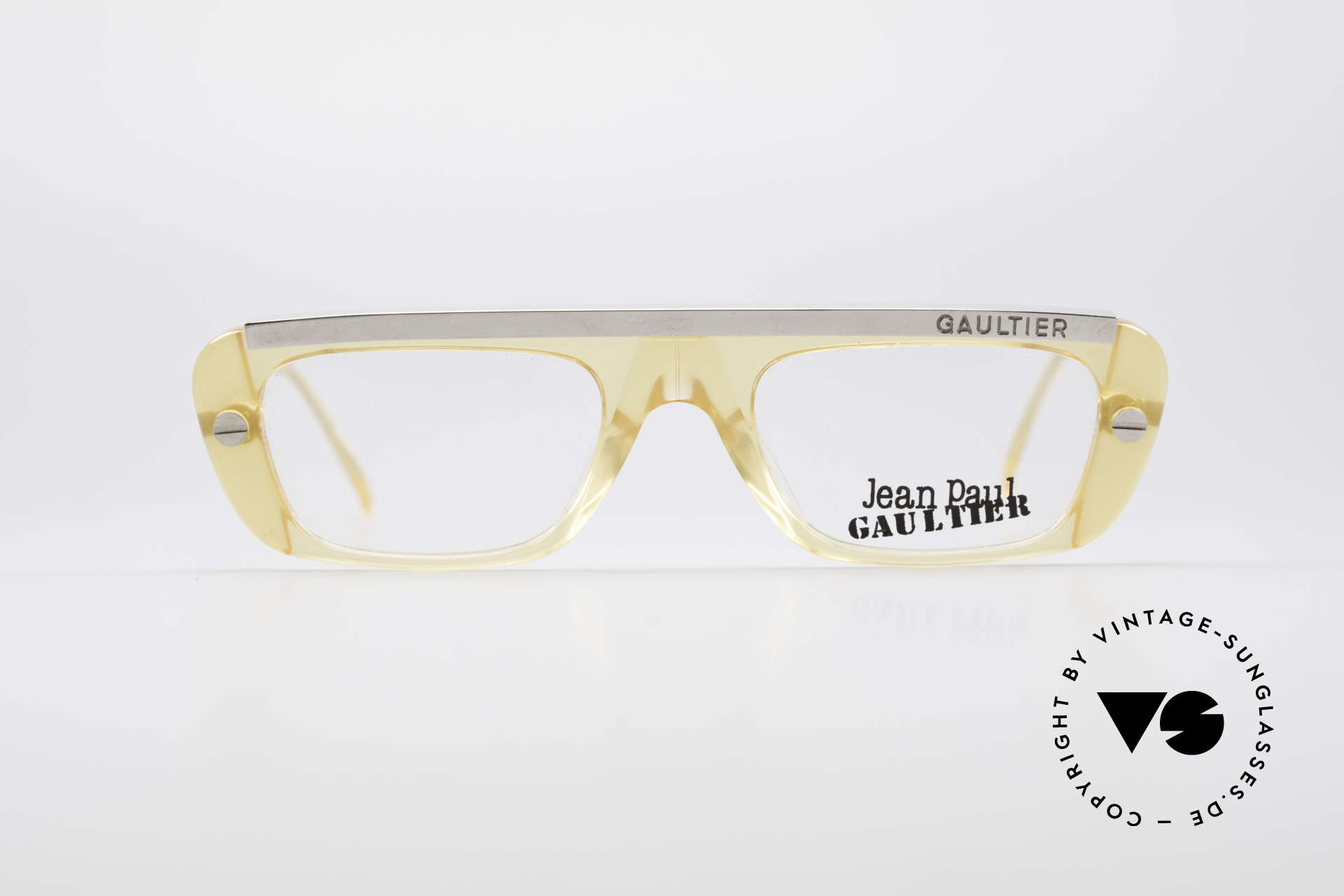 Jean Paul Gaultier 55-0771 Striking Vintage JPG Frame, sturdy frame with great combination of materials, Made for Men and Women