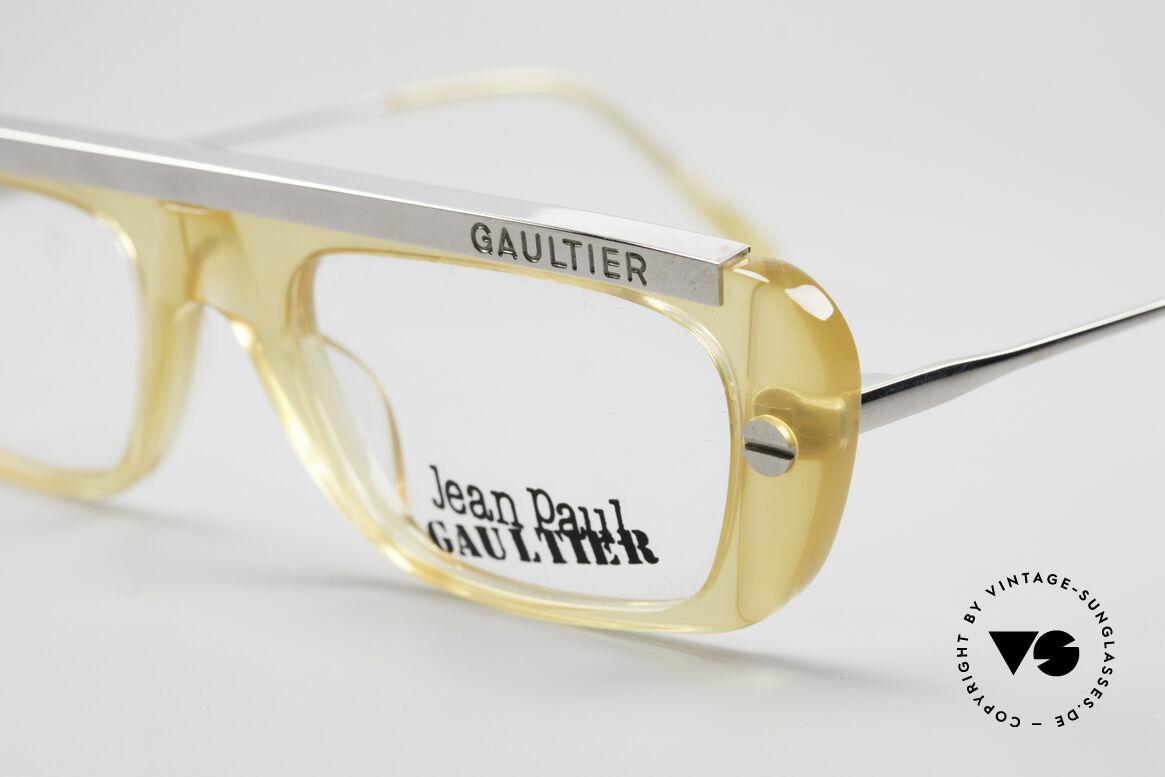 Jean Paul Gaultier 55-0771 Striking Vintage JPG Frame, unworn (like all our old 90's JP Gaultier eyewear), Made for Men and Women