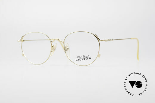 Jean Paul Gaultier 55-2176 Gold Plated Panto Glasses Details