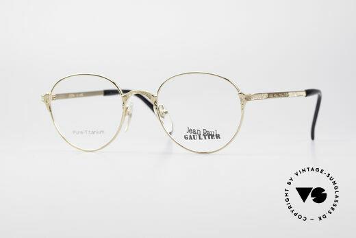 Jean Paul Gaultier 55-3183 Gold-Plated Titanium Frame Details