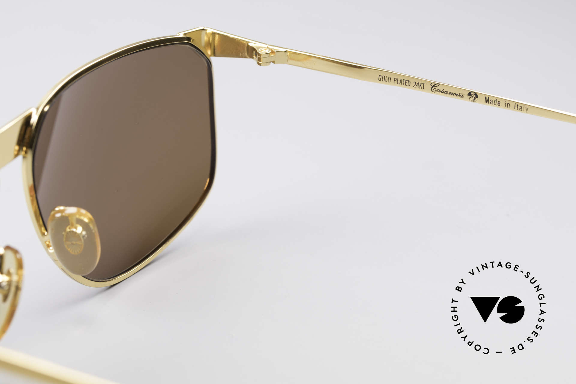 Casanova NM7 24KT Gold Plated Shades, frame can be glazed with optical lenses of any kind, Made for Men and Women