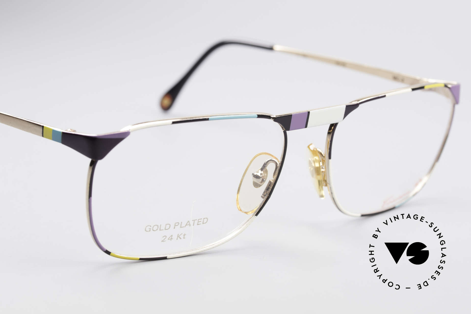 Casanova MC3 24KT Gold Plated Glasses, NO RETRO glasses, but a precious vintage original, Made for Men and Women