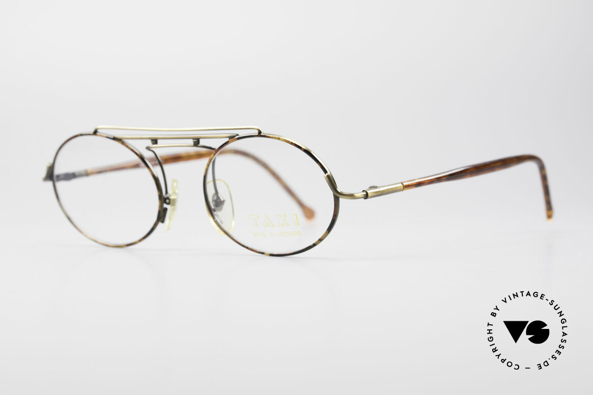 "Taxi 2105 by Casanova 90's Vintage Designer Frame, brass finished frame with ""tortoise"" elements, UNISEX, Made for Men and Women"