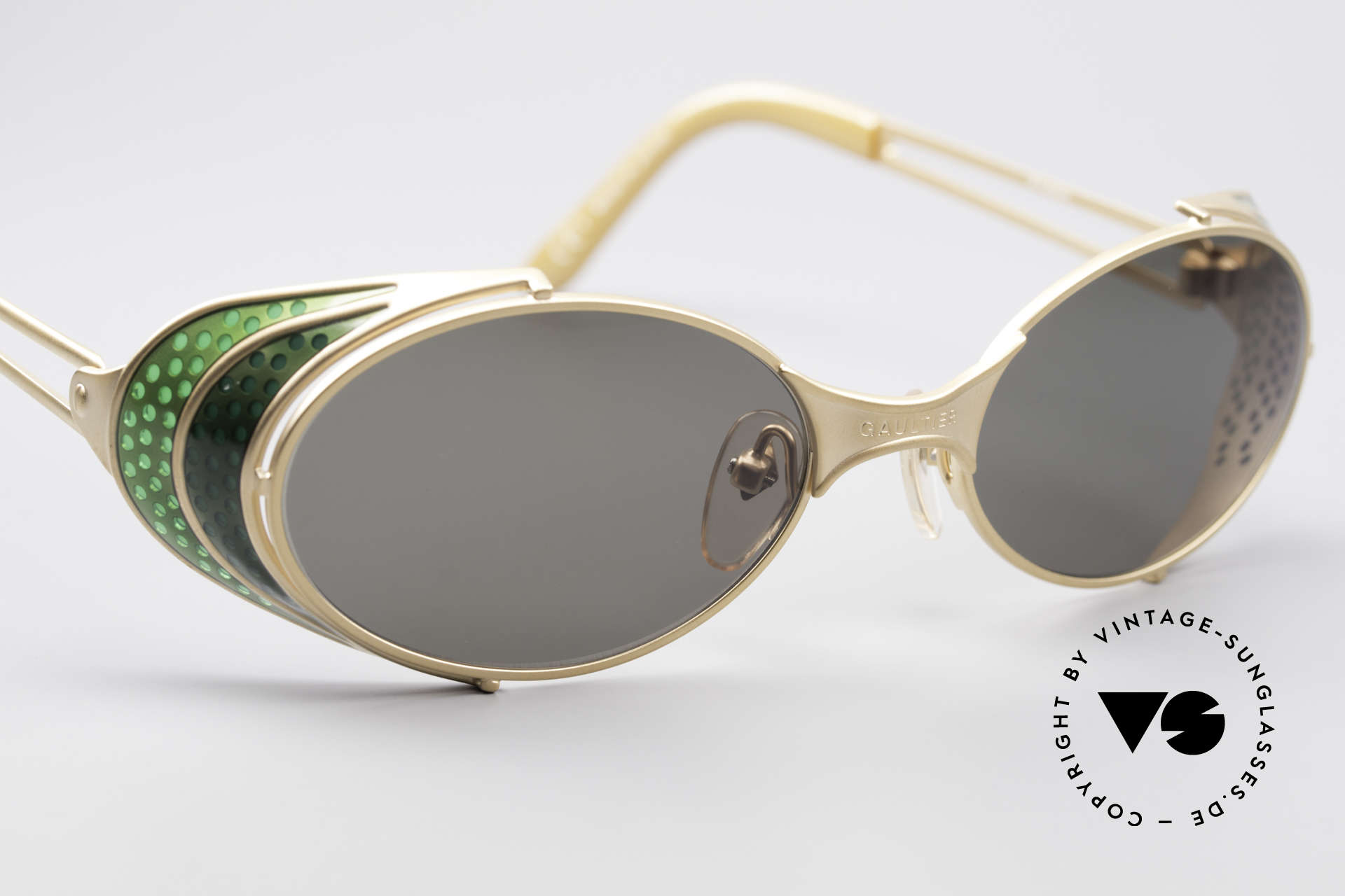 Jean Paul Gaultier 56-7109 Steampunk Sunglasses, unworn rarity (a 'must have' for all art & fashion lovers), Made for Men and Women
