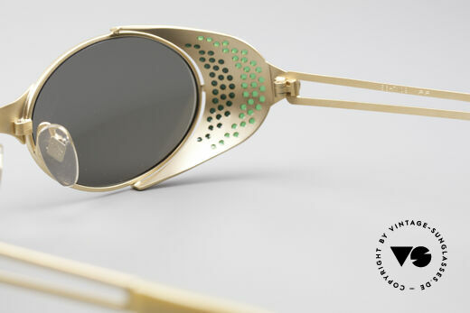 Jean Paul Gaultier 56-7109 Steampunk Sunglasses, NO RETRO shades, but a 25 years old ORIGINAL; vertu!, Made for Men and Women