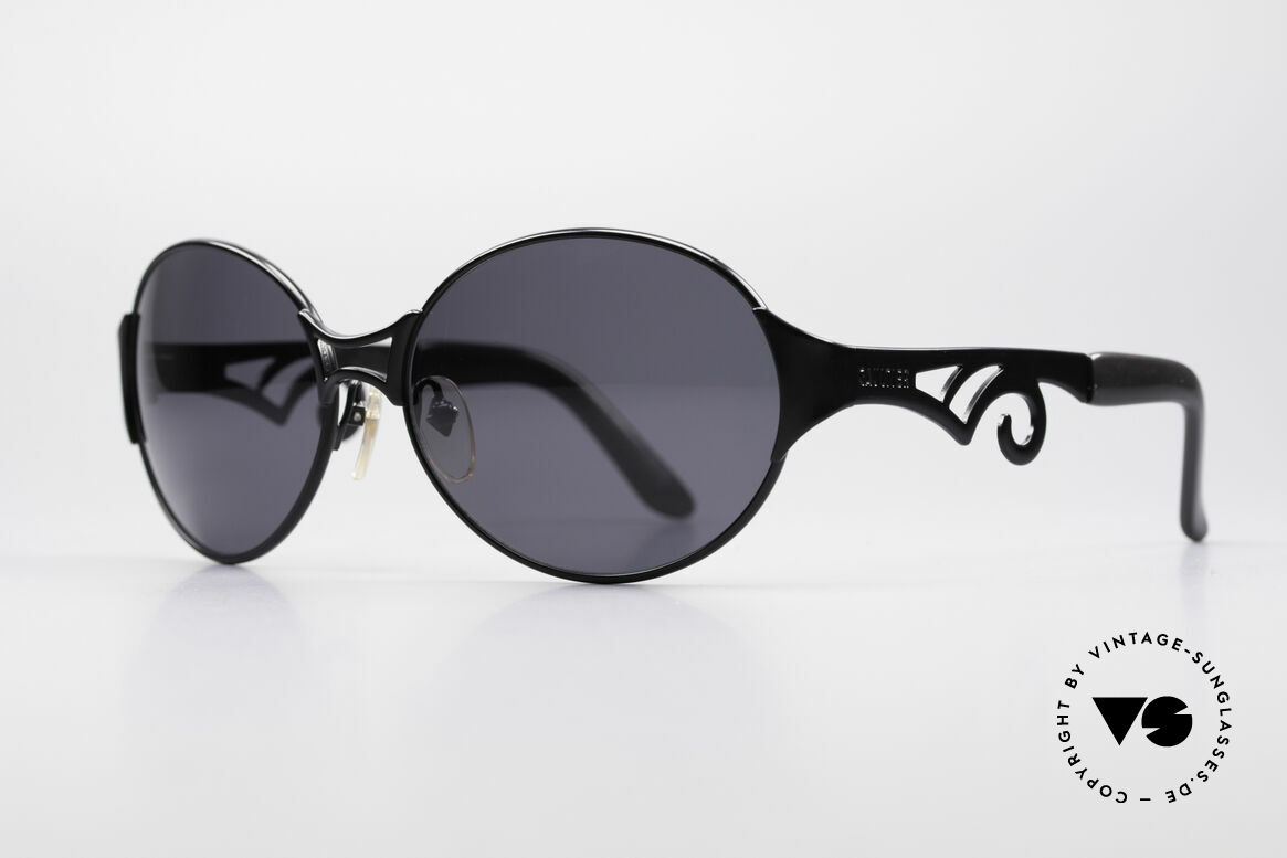 Jean Paul Gaultier 56-6108 90's Ladies Sunglasses, large, round frame; simply chic & feminine, Made for Women