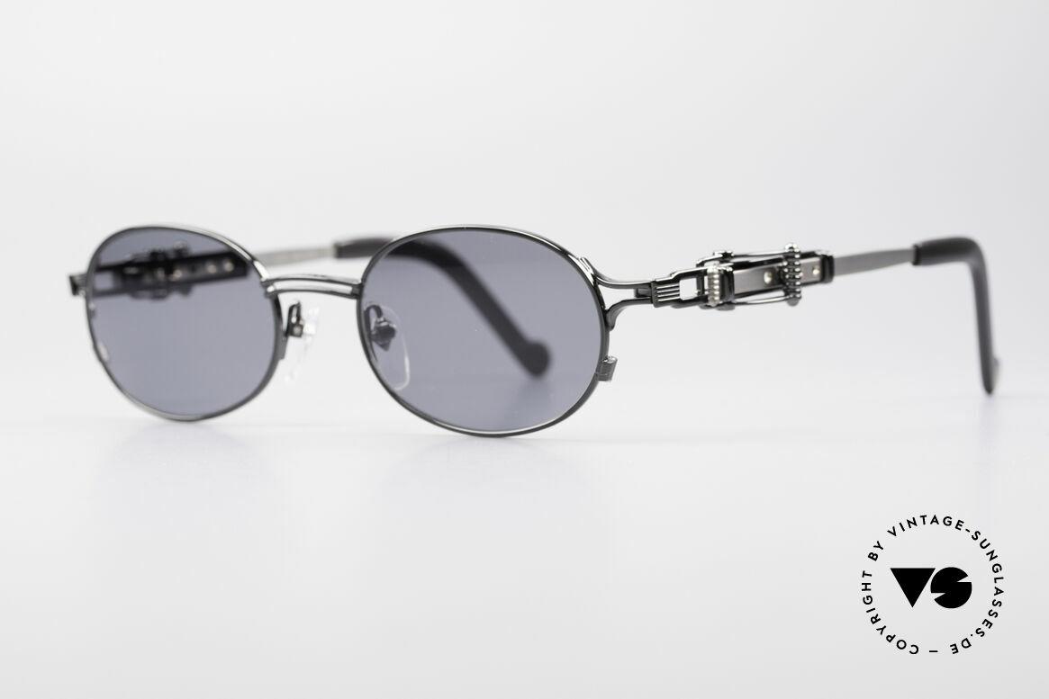 Jean Paul Gaultier 56-0020 Oval Belt Buckle Frame, adjustable temple-system looks like a belt buckle, Made for Men