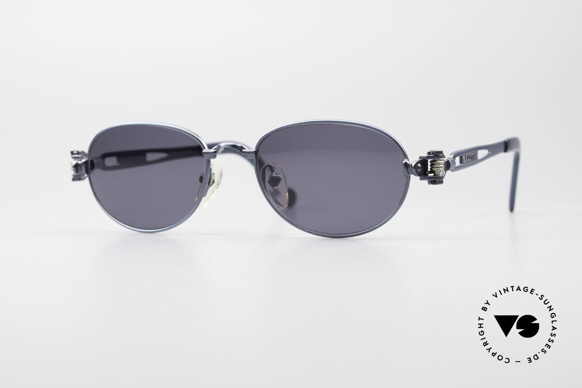 Jean Paul Gaultier 56-8102 Oval Industrial Sunglasses, interesting vintage Jean Paul Gaultier sunglasses, Made for Men and Women