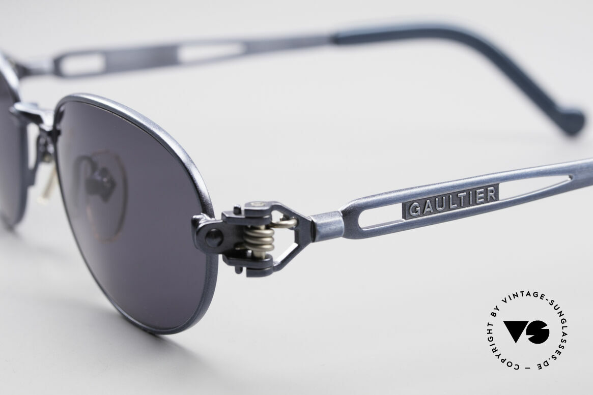 Jean Paul Gaultier 56-8102 Oval Industrial Sunglasses, never worn (like all our JPG Steampunk sunglasses), Made for Men and Women