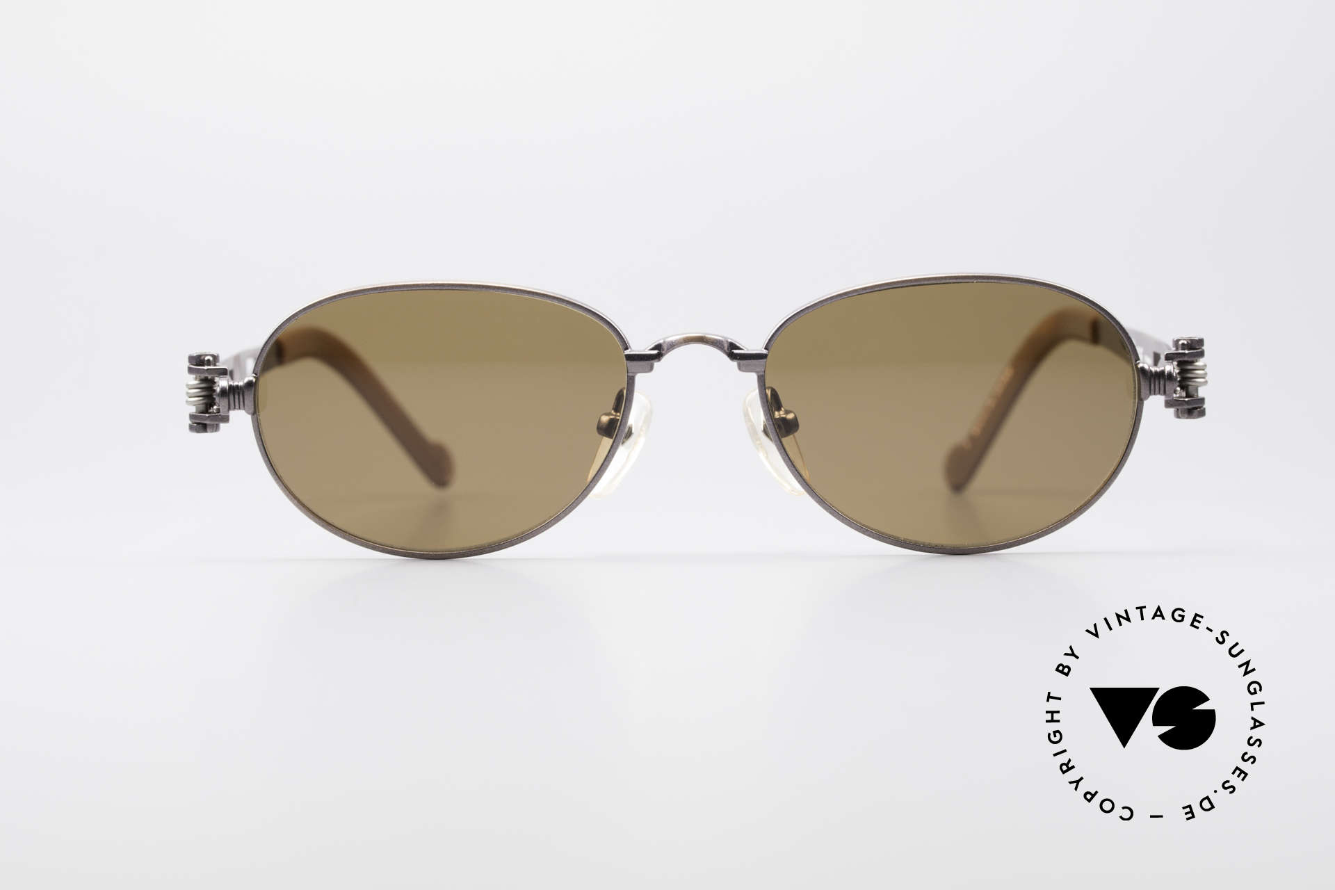 """Jean Paul Gaultier 56-8102 Oval Steampunk Sunglasses, """"industrial design"""" often called as """"STEAMPUNK"""", Made for Men and Women"""