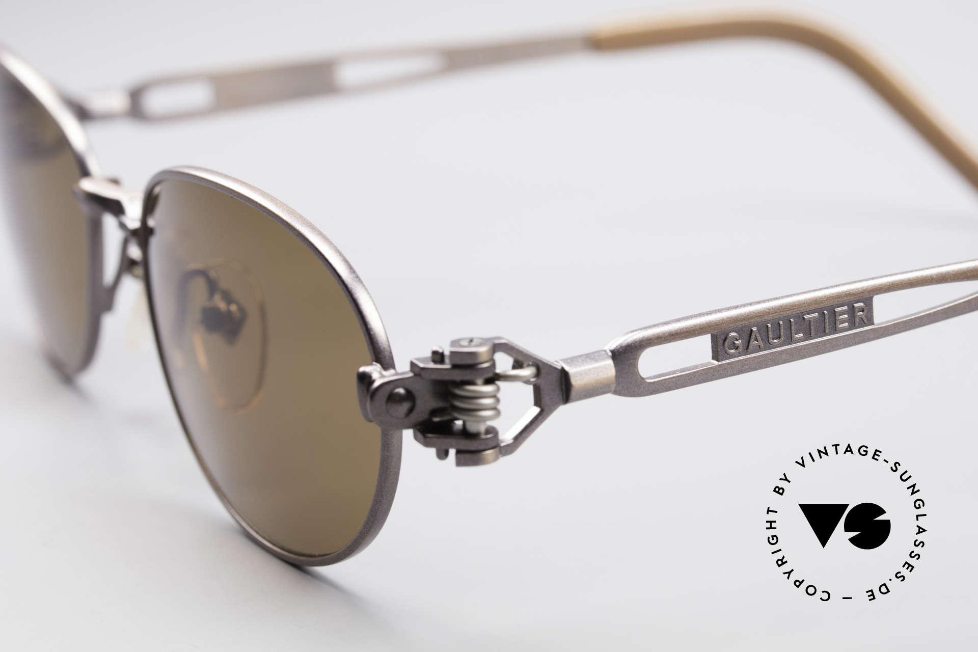 Jean Paul Gaultier 56-8102 Oval Steampunk Sunglasses, never worn (like all our JPG Steampunk sunglasses), Made for Men and Women
