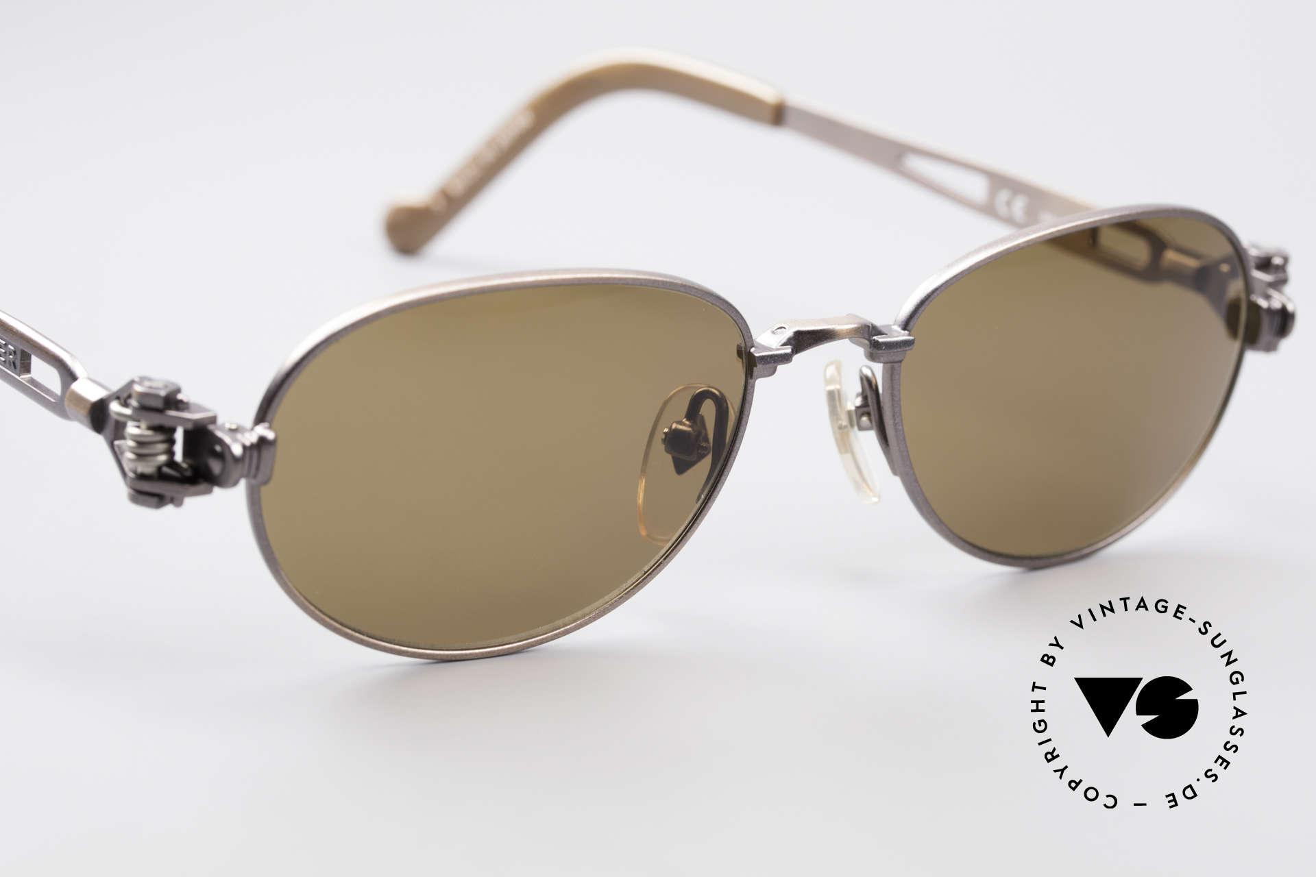 Jean Paul Gaultier 56-8102 Oval Steampunk Sunglasses, NO retro sunglasses, but a rare original from 1995, Made for Men and Women